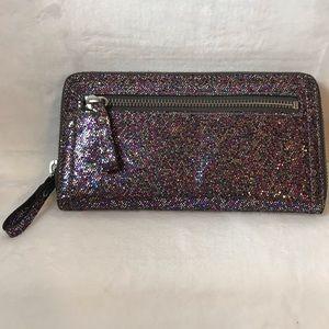 GAP sparkle zip around wallet